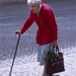 elderly woman living green